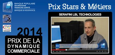 L'entreprise SERAFINI reçoit une seconde fois le Prix Stars et Métiers.