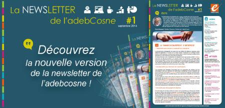 Découvrez la nouvelle version de la newsletter de l'adebCosne !