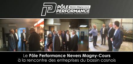 Le Pôle Performance Nevers Magny-Cours en visite à Cosne-Cours-sur-Loire