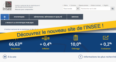 Un site internet plus performant pour l'INSEE