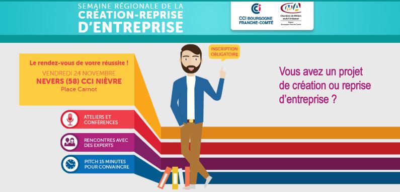 Semaine régionale de la création-reprise d'entreprise !