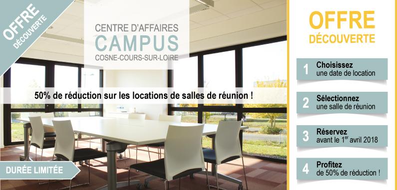 Centre d'affaires CAMPUS : -50% sur les salles de réunion !